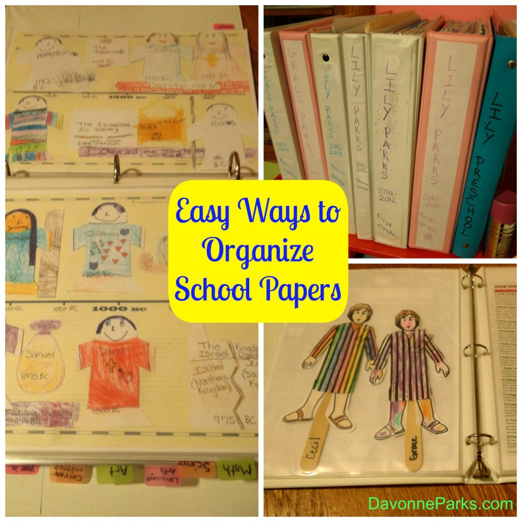 Easy Ways to Organize School Papers