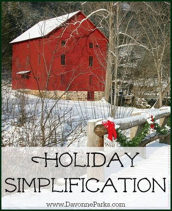 Holiday-Simplification