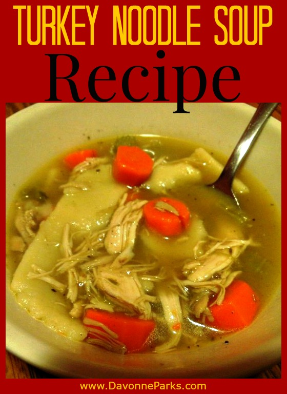 Homemade Turkey Noodle Soup Recipe - a perfect way to use leftover turkey!