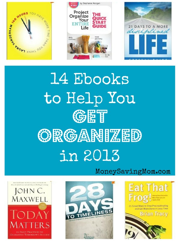 14 eBooks to Help You Get Organized in 2013