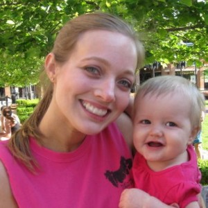 Me with Grace after my first 5k!