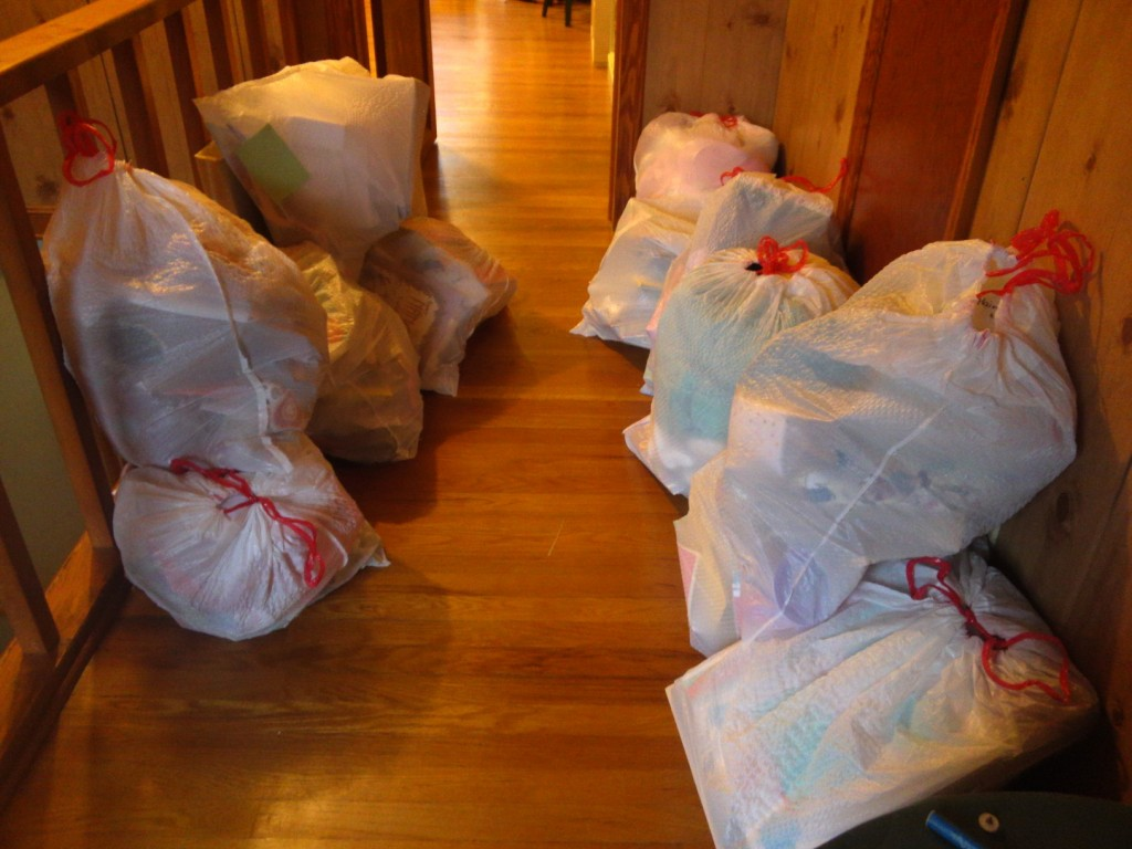 Bags to donate and toss!