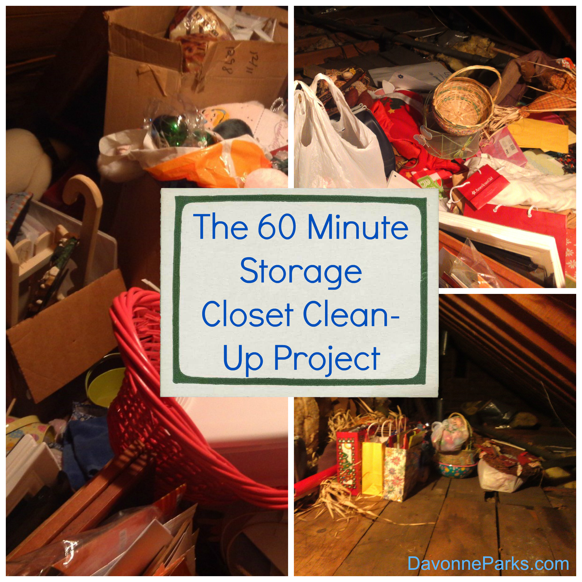 The 60 Minute Storage Closet Clean-up Project