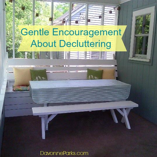 Gentle Encouragement About Decluttering