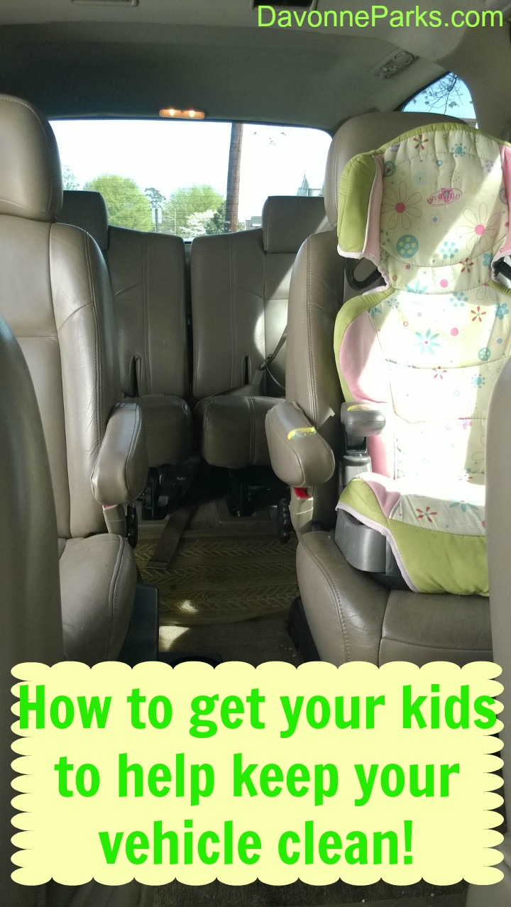 How to Get Your Kids to Help Keep Your Vehicle Clean!