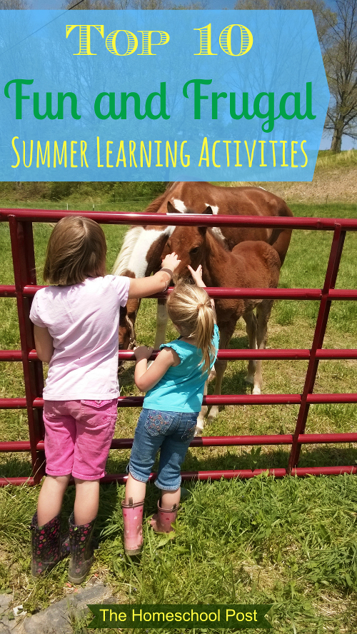 Top Ten Fun and Frugal Summer Learning Activities (Guest Post)