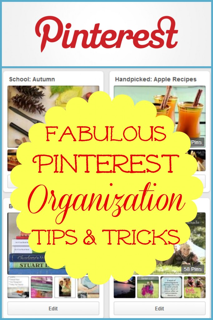 Make your Pinterest boards work for you with these fabulous organizational tips and tricks!