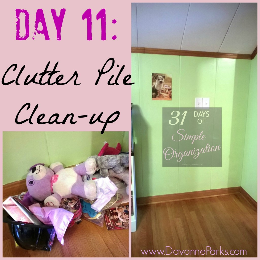 Inspiration to clean up a clutter pile - I needed this today!!