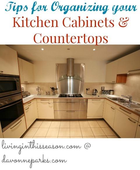 Organizing Kitchen Cabinets & Countertops