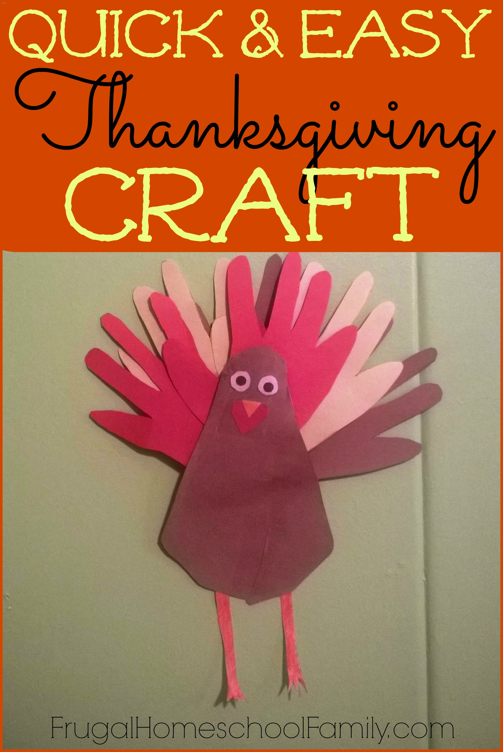 A Thanksgiving Craft that Won't Clutter Up Your House