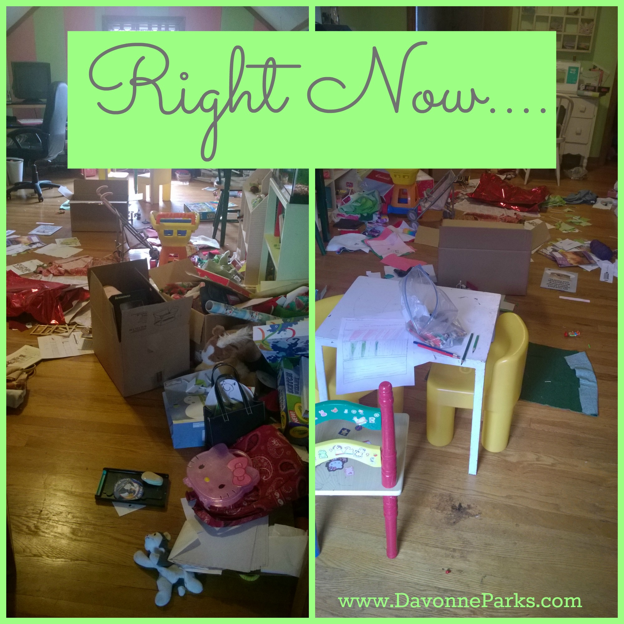 I'm Submitting My Own Mess to My Get-Organized Challenge
