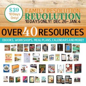 Social Media, Family Resolution Revolution Graphic