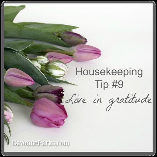 Housekeeping Tip #9: Live in Gratitude