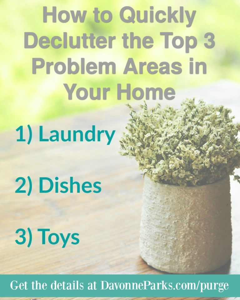 How to Quickly Declutter the Top 3 Problem Areas in Your Home {Housekeeping Tip #8: Set A Stuff Budget}