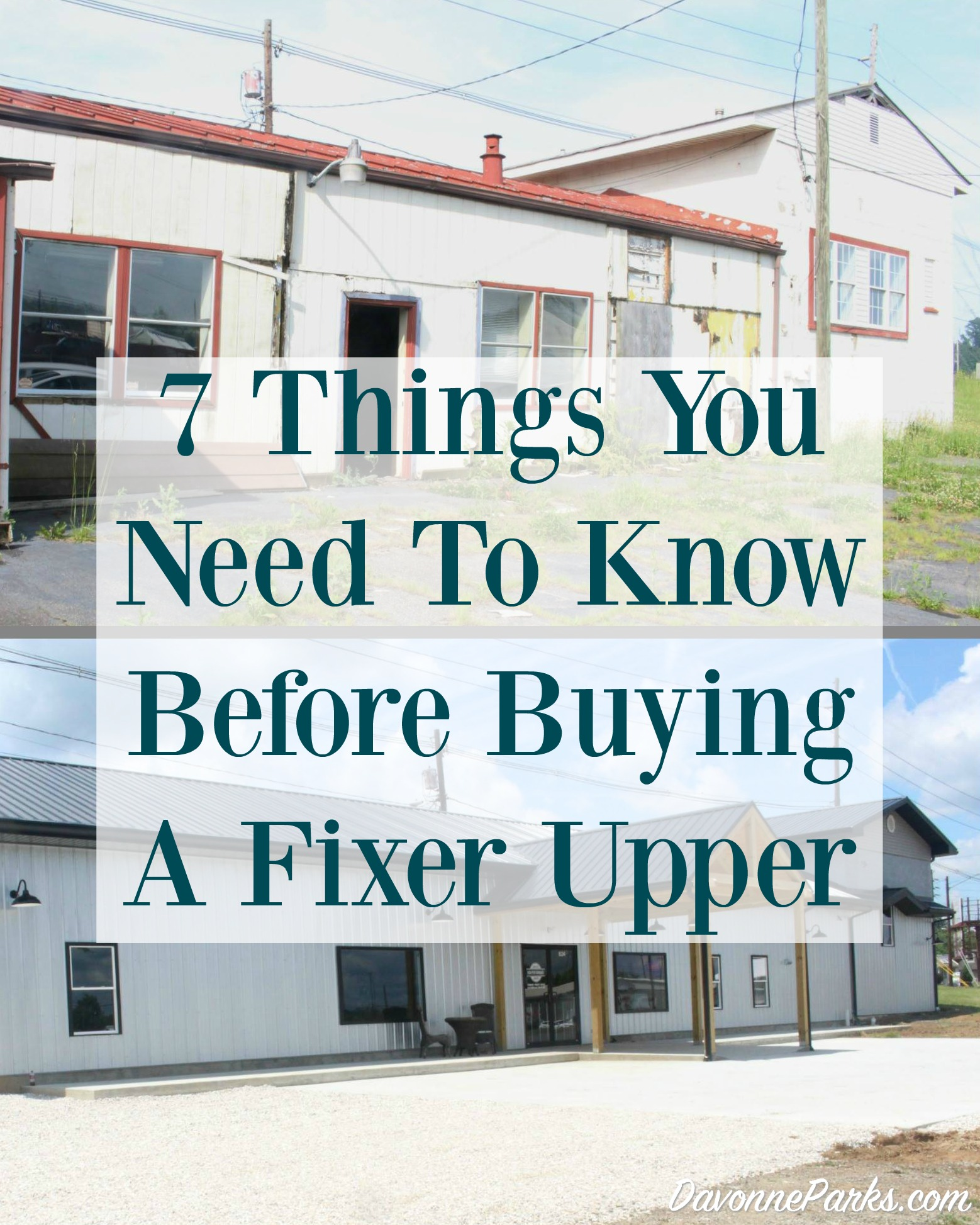 7 Things You Need to Consider Before Purchasing a Fixer Upper