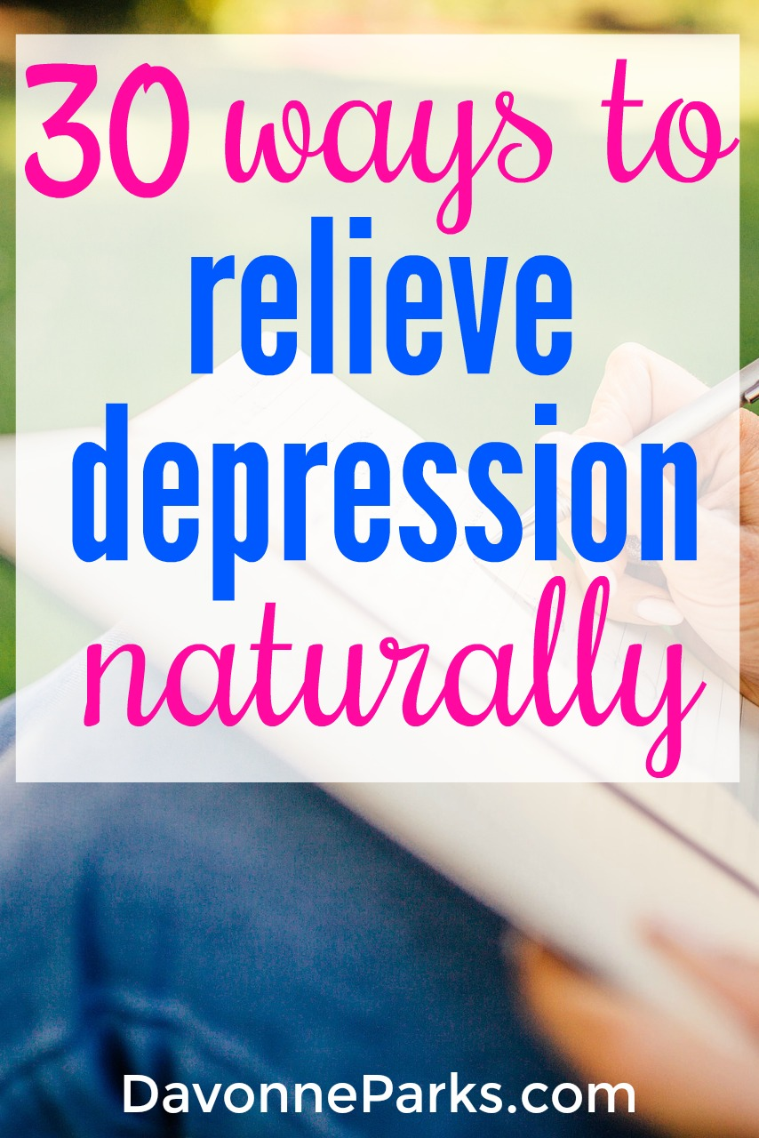 30 Ways to Naturally Relieve Depression