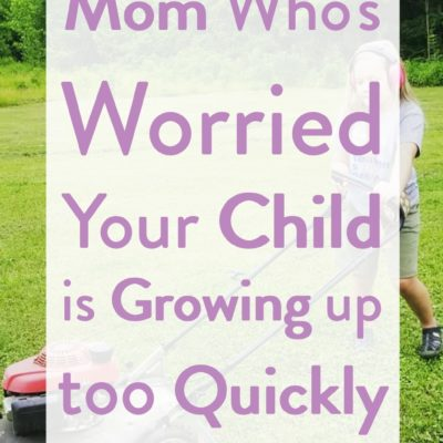 Mom who's worried your child is growing too quickly, this is for you