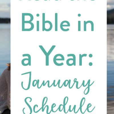 January's Bible Reading Schedule