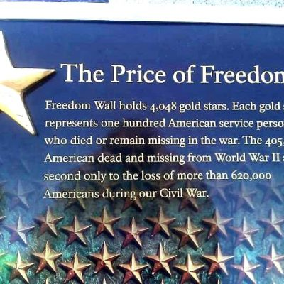 Let's Not Forget the Price of Freedom